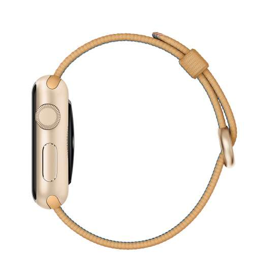 Умные часы Apple Watch Gold 38mm Gold with Gold/Red Woven Nylon [MMF52] фото 3
