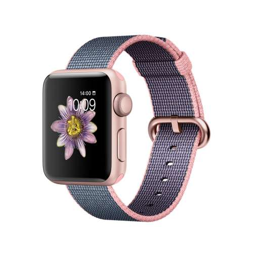 Умные часы Apple Watch Series 2 38mm Rose Gold with Woven Nylon [MNP02] фото 1