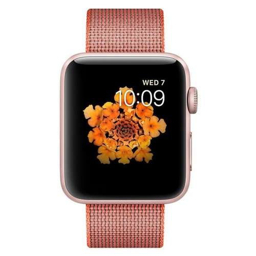 Умные часы Apple Watch Series 2 42mm Rose Gold with Woven Nylon [MNPM2] фото 1