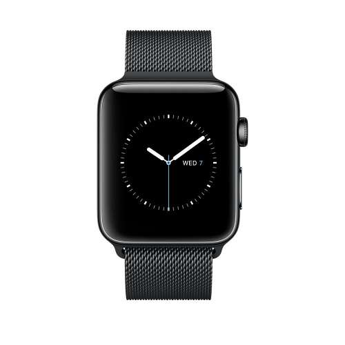 Умные часы Apple Watch Series 2 42mm Space Black with Milanese Loop [MNQ12] фото 1