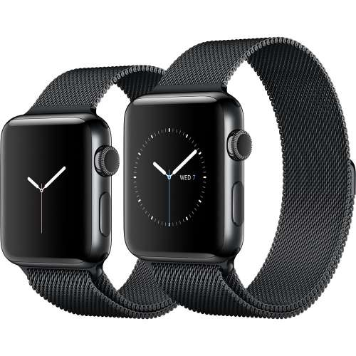 Умные часы Apple Watch Series 2 42mm Space Black with Milanese Loop [MNQ12] фото 4