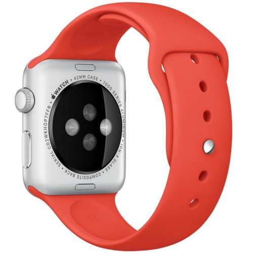 Умные часы Apple Watch Sport 42mm Silver with Orange Sport Band (MLC42) фото 2